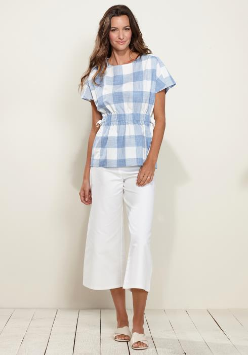 Checkered Side Tie Top