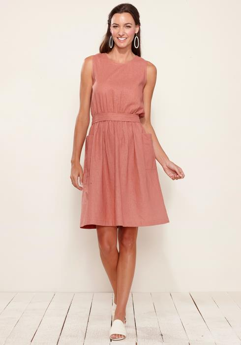 Sleeveless Pocketed Midi Dress