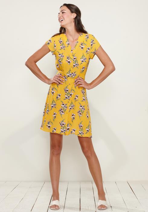 Button Down Short Sleeve Dress
