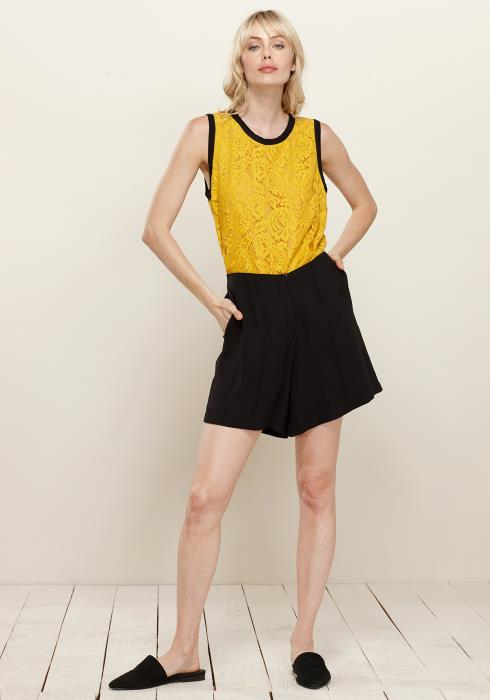 Floral Lace Sleeveless Top