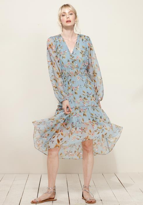 Plus Size Smocked Waist Floral Midi Dress
