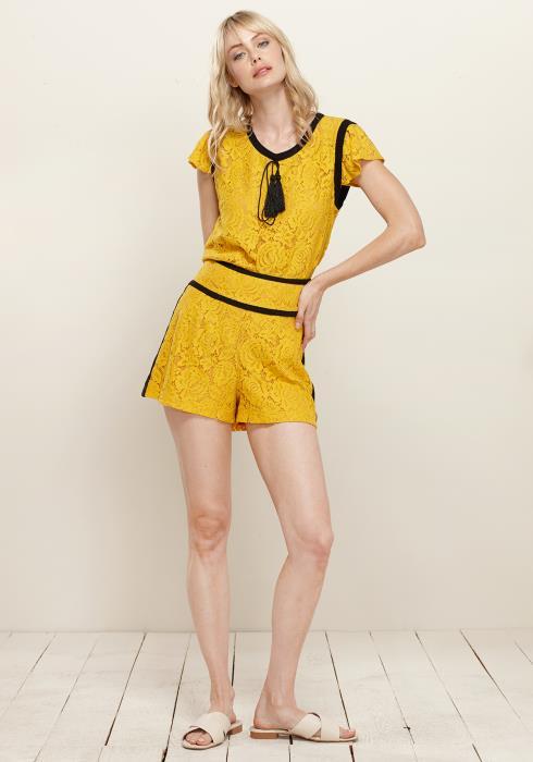 Plus Size Floral Lace Shorts