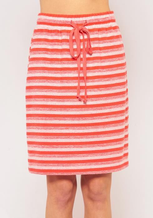 Pleione Plus Size Multi Stripe Drawstring Skirt