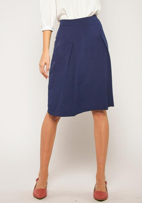 Pleione Plus Size Pleated Skater Skirt