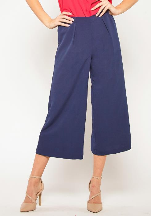 Pleione High Waist Wide Leg Capri Pant