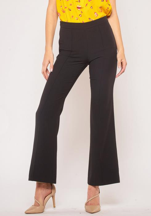 Pleione Plus Size Flared Hem High Waisted Pants