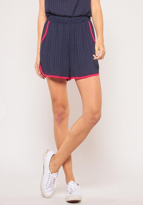 Pleione Color Binded Hem Shorts