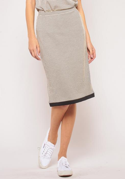 Pleione Hem Binding Midi Skirt