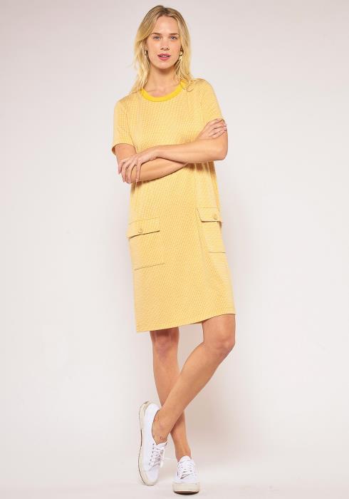 Pleione Button Pocket Shift Dress